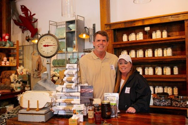 Bruce and Liz Andrews, owners of Farm + Table in Cape Porpoise, Maine