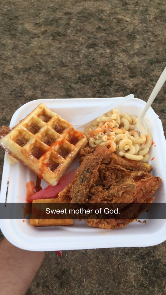 Fried Chicken, Mac N Cheese and Waffle @ Outside Lands