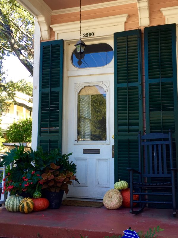 Door to a home in the New Orleans Garden District