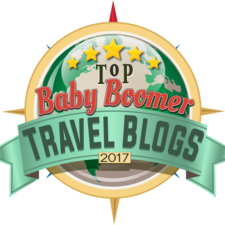 We Made the List! ~ Top Baby Boomer Travel Blogs 2017