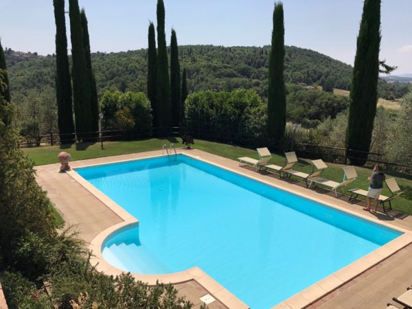 swimming pool at an Italian cooking school
