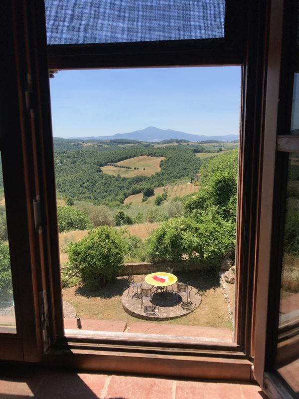 View from the window of an Italian cooking school