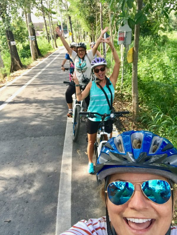 culinary travel, biking in Thailand