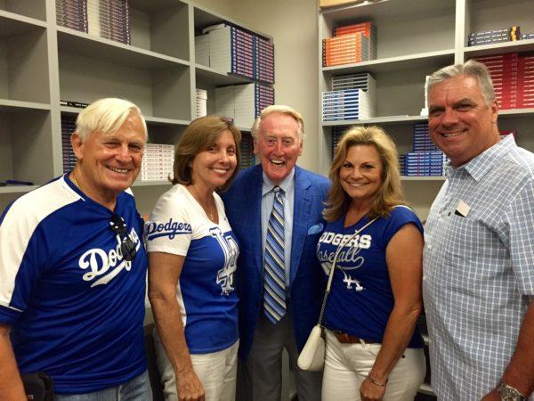 Vin Scully at Dodger Stadium