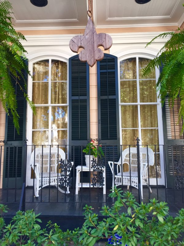 Porch of a home in the New Orleans Garden District
