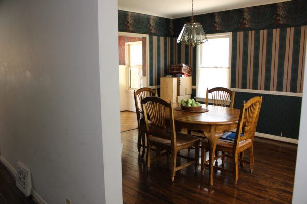 "home renovation ""Before"" of dining room"