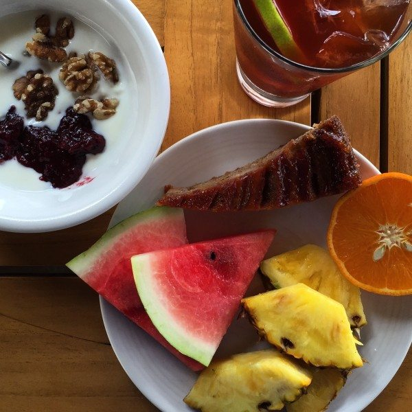 delicious breakfast at the Andaz Costa Rica