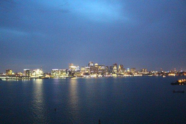 Night view of Boston