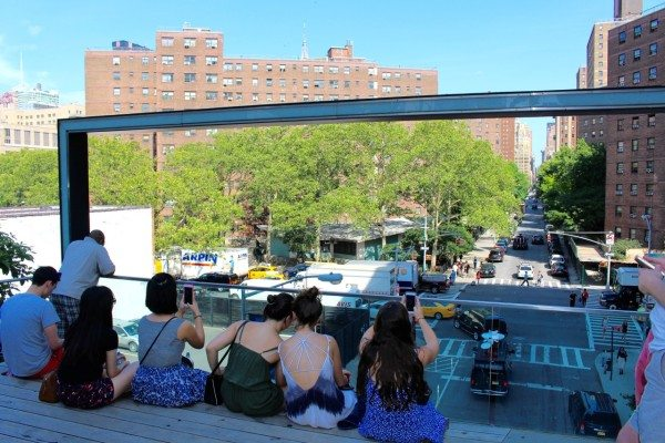 The view from the High Line
