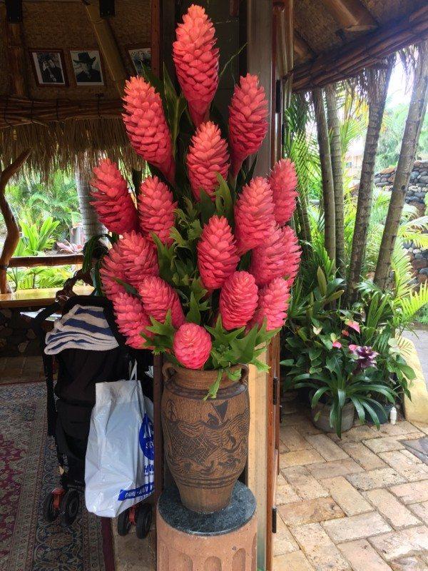 A gorgeous arrangement at the front entrance.