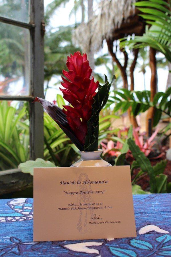 Happy Anniversary from Mama's Fish House