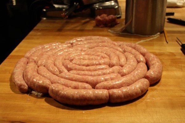 A wheel of bratwurst!