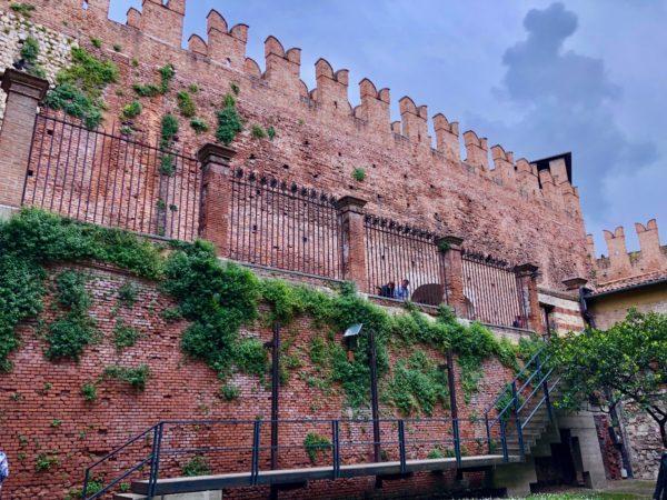 beautiful medieval castle in verona