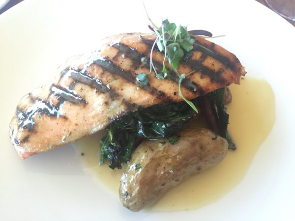 grilled salmon at the Space Needle