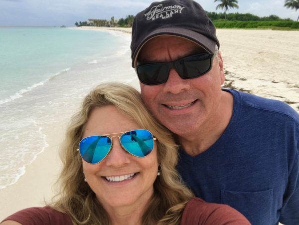 A selfie on the beach at the Andaz Mayakoba Resort