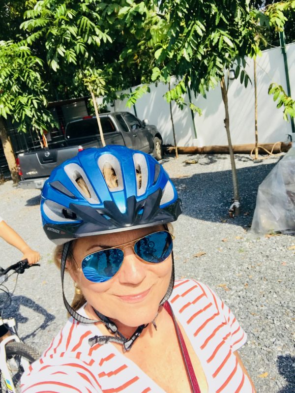 Bike riding in Bang Kracho is one of the ten reasons to visit Thailand.