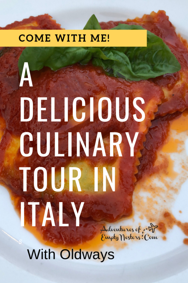 culinary tour in Italy