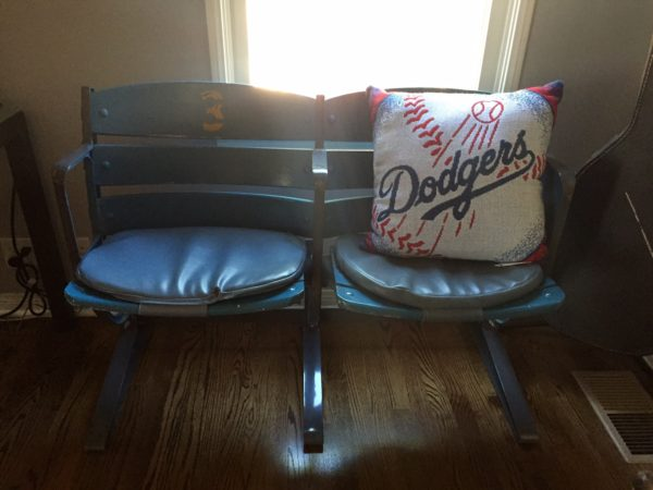Dodger seats - Vin Scully