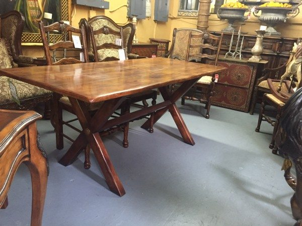 new trestle table for the fixer upper renovation