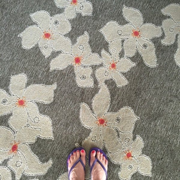 toes on the carpet
