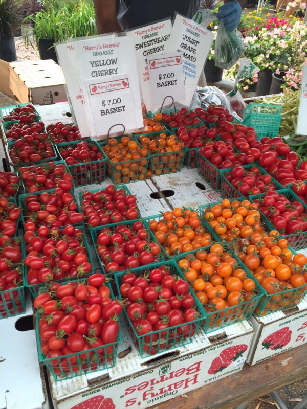 digital news tomatoes at the farmers market