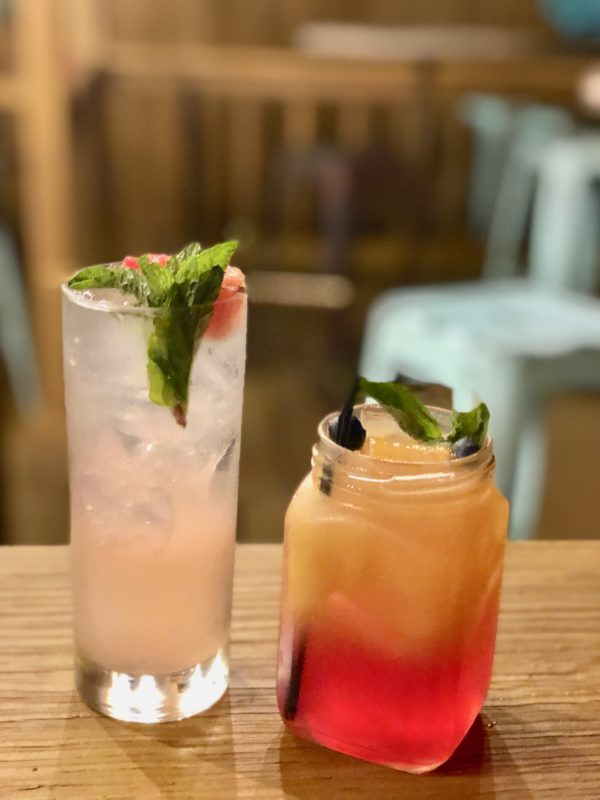 cocktails and food in Kansas City Kansas