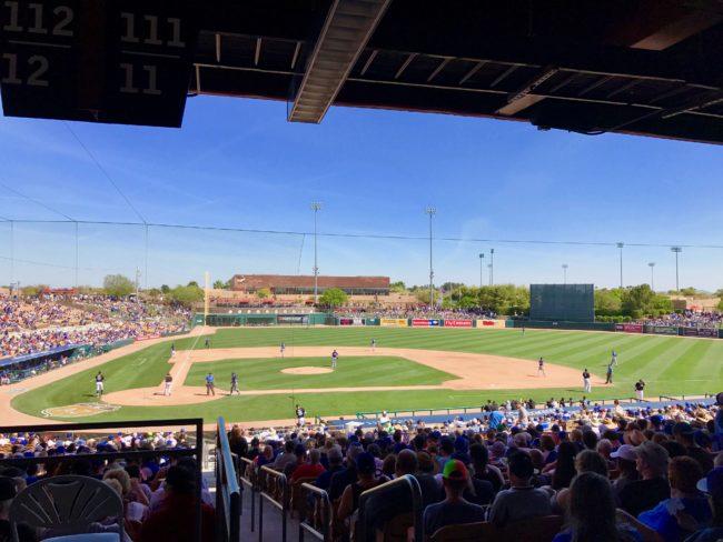 Dodger game in Phoenix