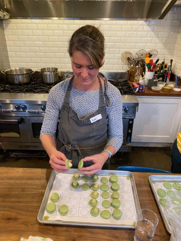 learning to make macarons