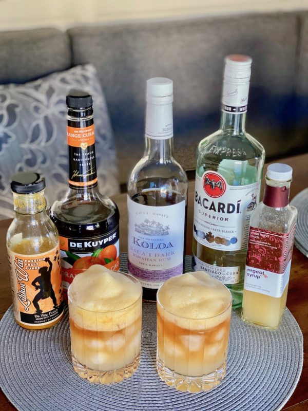 ingredients for a Mai Tai