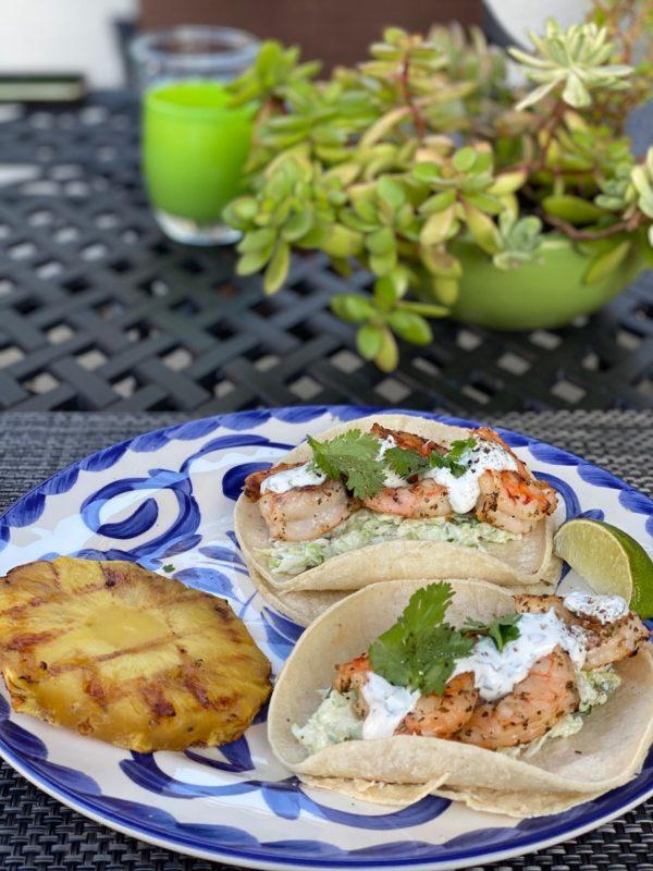 Shrimp Tacos maui style