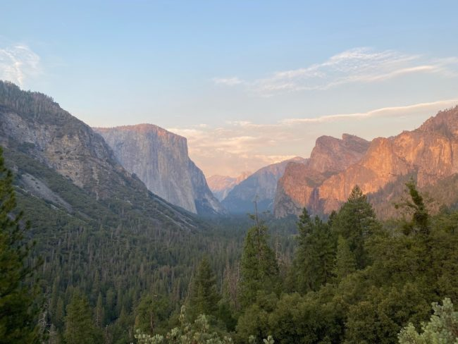 sunset view Yosemite