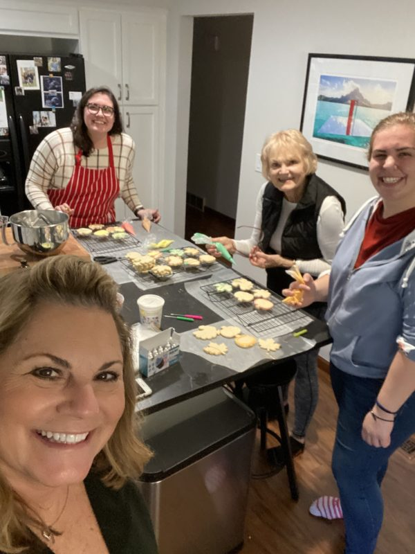 making holiday cookies